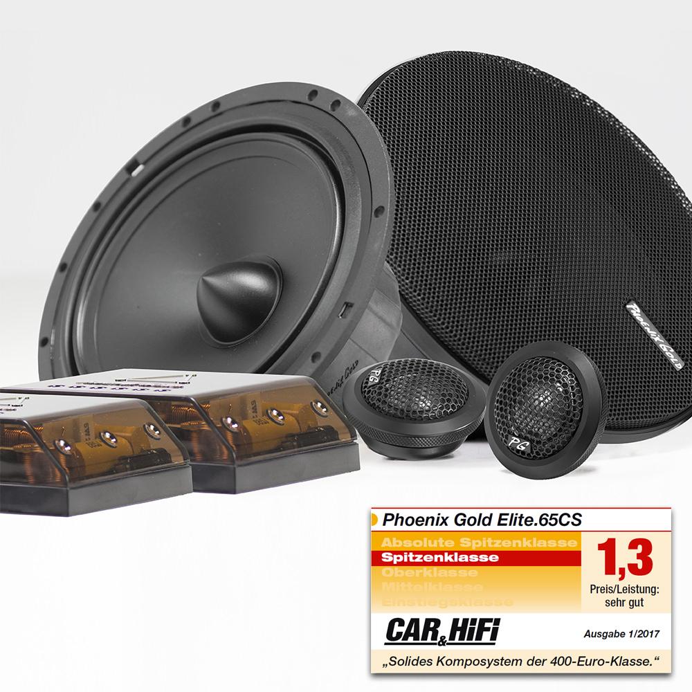 Phoenix Gold Testbericht: CAR&HiFi - Phoenix Gold Elite.65cs Lautsprecher-System