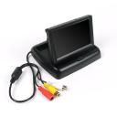 Kleiner flexibler Stand-Alone-Monitor zum einfachen Auf- und Zuklappen inklusive Anschluss für Strom- sowie Videokabel